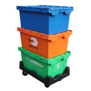 coloured plastic storage boxes
