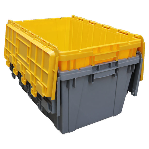 plastic bins with lids