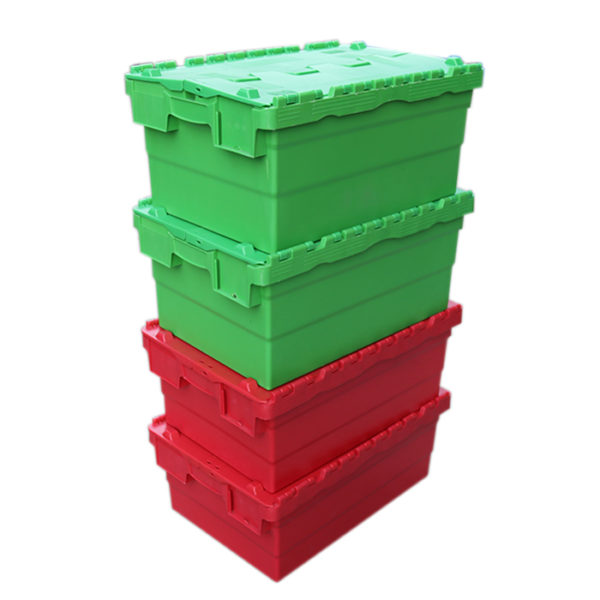 plastic storage boxes with hinged lids