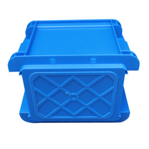 stacking plastic storage boxes